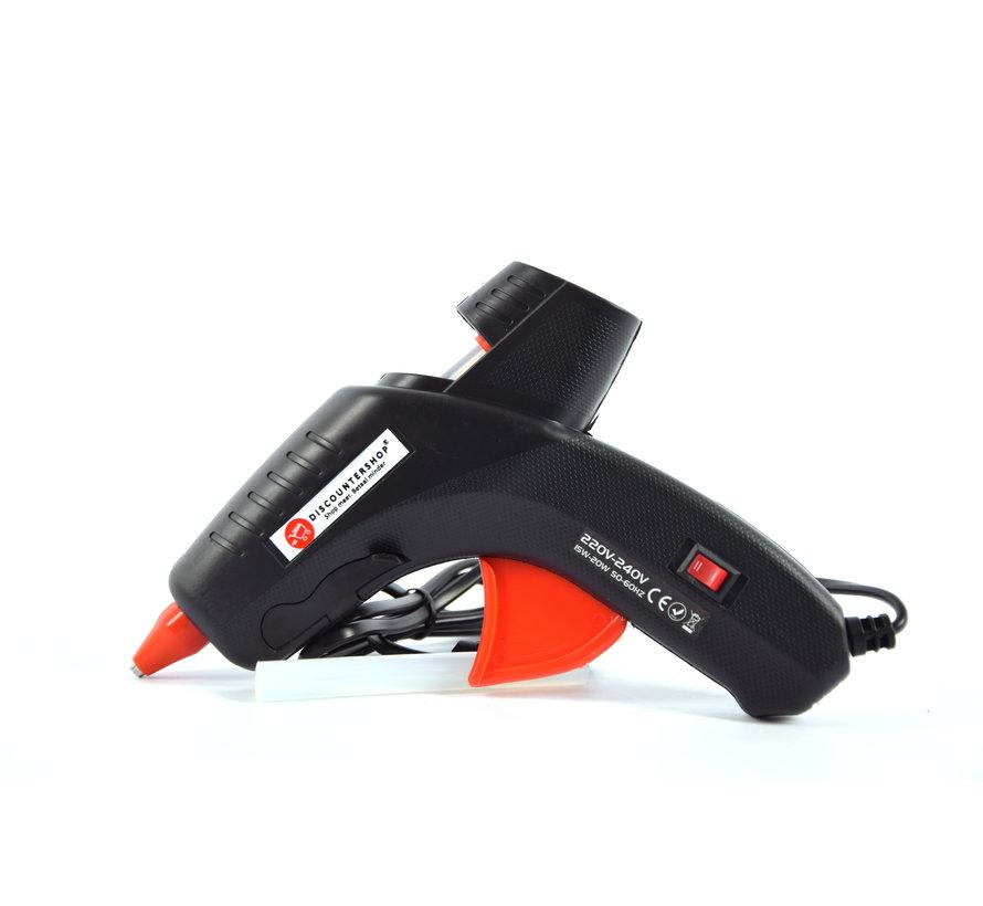 Discountershop® -220V - 240V - 15Watt / 20Watt glue gun 2 positions - INCL. 12 GLUE STICKS