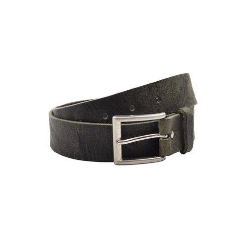 Discountershop Belt 85 cm color Black / Green, it is 3 cm wide - Belts Men - Belts Women - Beautiful Belts