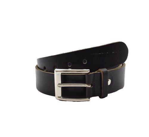 Discountershop Belt 105 cm color Black,  it is 3 cm wide - Belts Men - Belts Women - Beautiful Belts