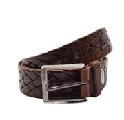 Discountershop Belt 105  cm color Donker Bruin, it is 3 cm wide - Belts Men - Belts Women - Beautiful Belts