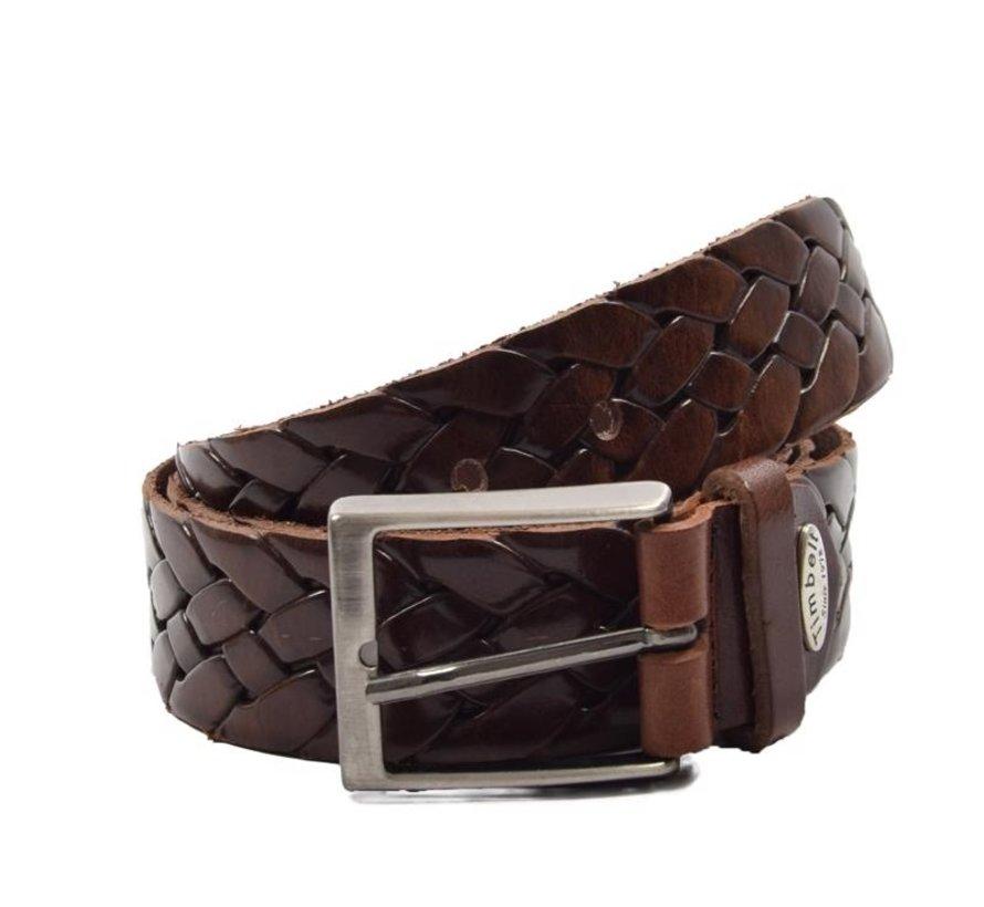Belt 105 cm color Donker Bruin, it is 3 cm wide - Belts Men - Belts Women - Beautiful Belts