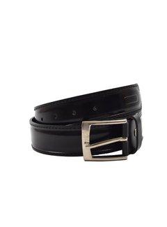 Discountershop Belt 85 cm color Shiny Black, it is 3 cm wide - Belts Men - Belts Ladies - Beautiful Belts
