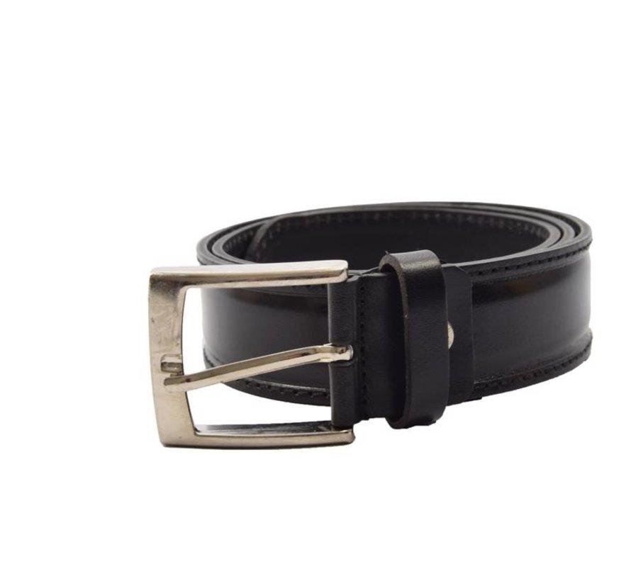 Belt 85 cm color Shiny Black, it is 3 cm wide - Belts Men - Belts Ladies - Beautiful Belts
