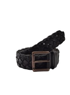 Discountershop Belt 105cm color Black, it is 4 cm wide - Belts Men - Belts Ladies- Beautiful Belts