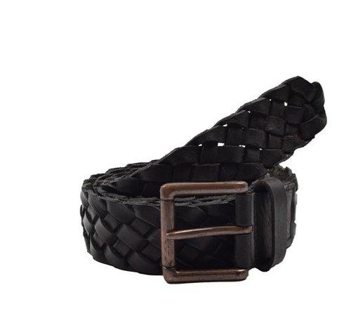 Discountershop Belt 105cm color Black, it is 4 cm wide - Belts Men - Belts Ladies- Beautiful Belts