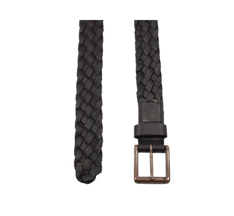Riem 105cm kleur Zwart, hij is 4 cm breed - Riemen Heren - Riemen Dames- Mooie Riemen