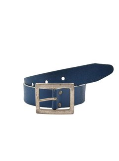 Discountershop Belt 75 cm color Blue, it is 4 cm wide - Belts Men - Belts Ladies - Beautiful Belts