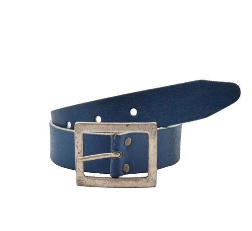 Discountershop Belt 75 cm color Blue, it is 4 cm wide - Belts Men - Belts Ladies - Beautiful Belts