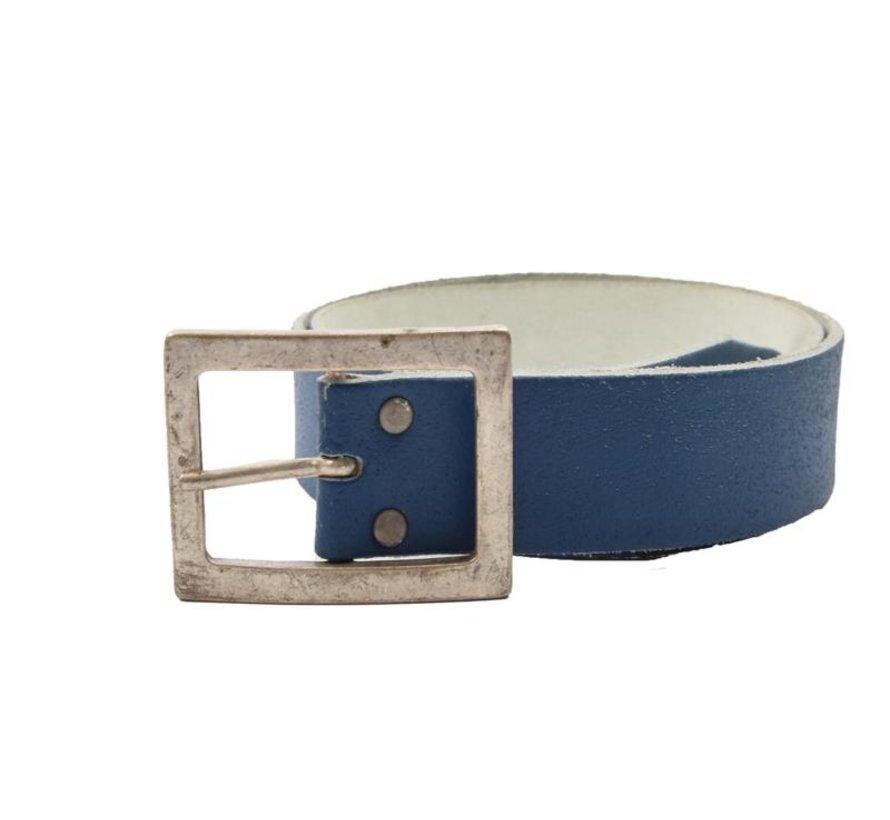 Belt 75 cm color Blue, it is 4 cm wide - Belts Men - Belts Ladies - Beautiful Belts