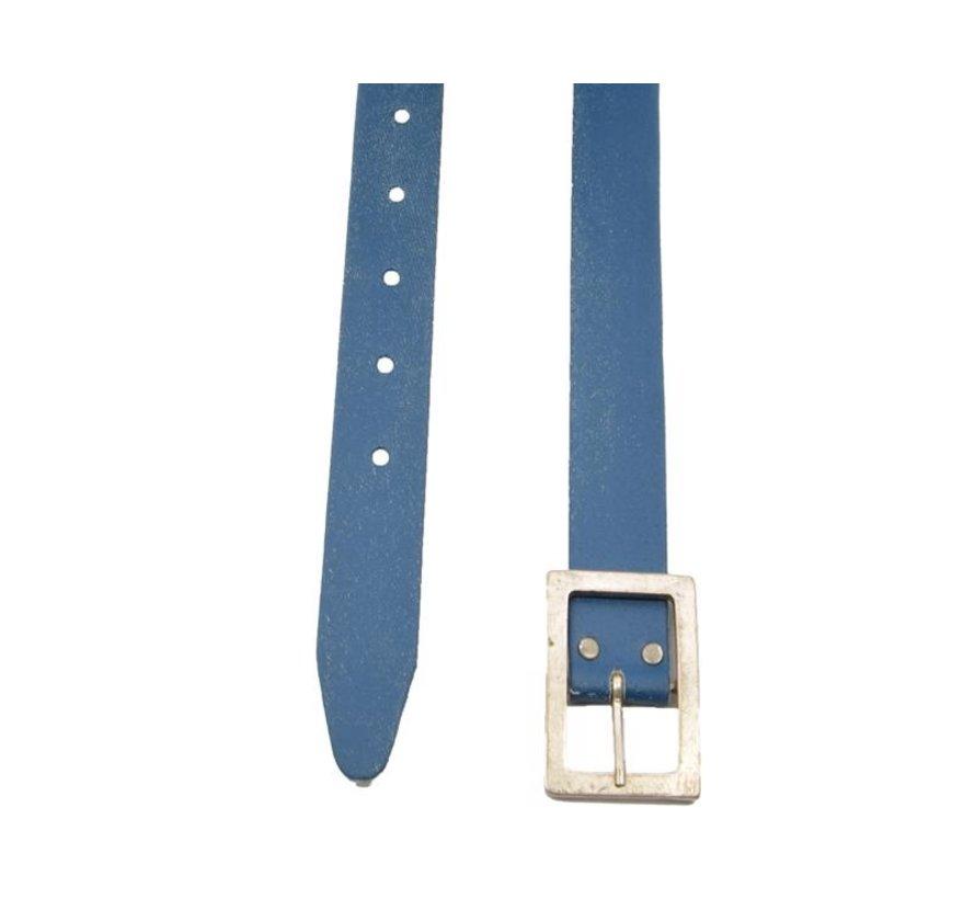 Riem 75 cm kleur Blauw, hij is 4cm breed - Riemen Heren - Riemen Dames- Mooie Riemen