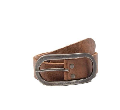 Discountershop Children's Belt 65 cm color Brown, it is 3 cm wide - Belts Men - Belts Ladies - Beautiful Belts