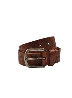 Discountershop Belt 85 cm color Brown with dots, it is 4 cm wide - Belts Men - Belts Ladies - Beautiful Belts