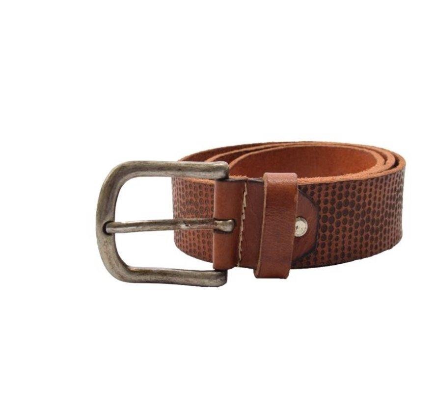 Belt 85 cm color Brown with dots, it is 4 cm wide - Belts Men - Belts Ladies - Beautiful Belts