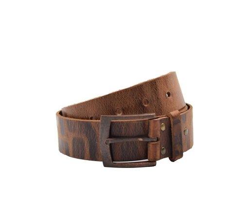 Discountershop Belt 95 cm color Cognac, it is 4 cm wide - Belts Men - Belts Ladies - Beautiful Belts
