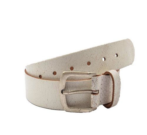 Discountershop Belt 95 cm color White, it is 3 cm wide - Belts Men - Belts Ladies - Beautiful Belts