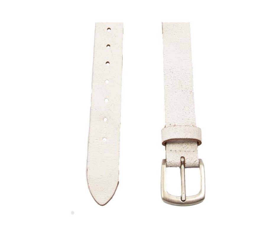 Riem 95  cm kleur Wit, hij is 3 cm breed - Riemen Heren - Riemen Dames- Mooie Riemen
