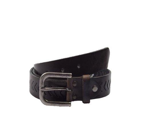 Discountershop Belt 85 cm color Black, it is 3 cm wide - Belts Men - Belts Ladies - Beautiful Belts