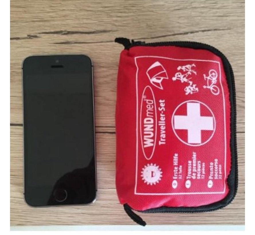 2 Pieces Small and compact first aid box Travel size 11 cm x 8 cm x 5 cm - First aid for your belt - car or in the camper - First aid first aid box 31 pcs - Comfort AID - First AID KIT - First aid box -