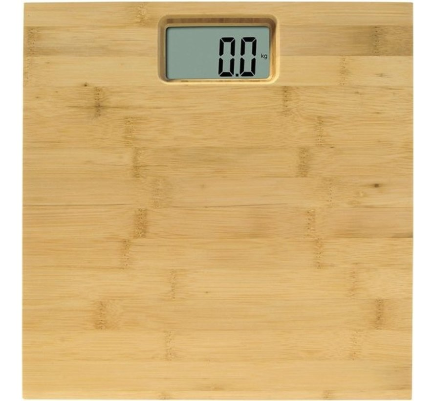 Personal Scale - Bamboo Natural - Personal Scale - Step-on Technology - Trendy Bamboo
