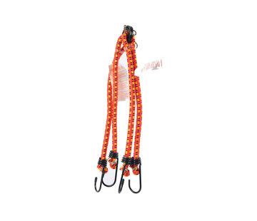 Discountershop snelbinders - spinbinder 60 cm met vier elastische armen -spinbinder 45 cm met vier elastische armen - Elastische binders - met haak- Haak - Binders
