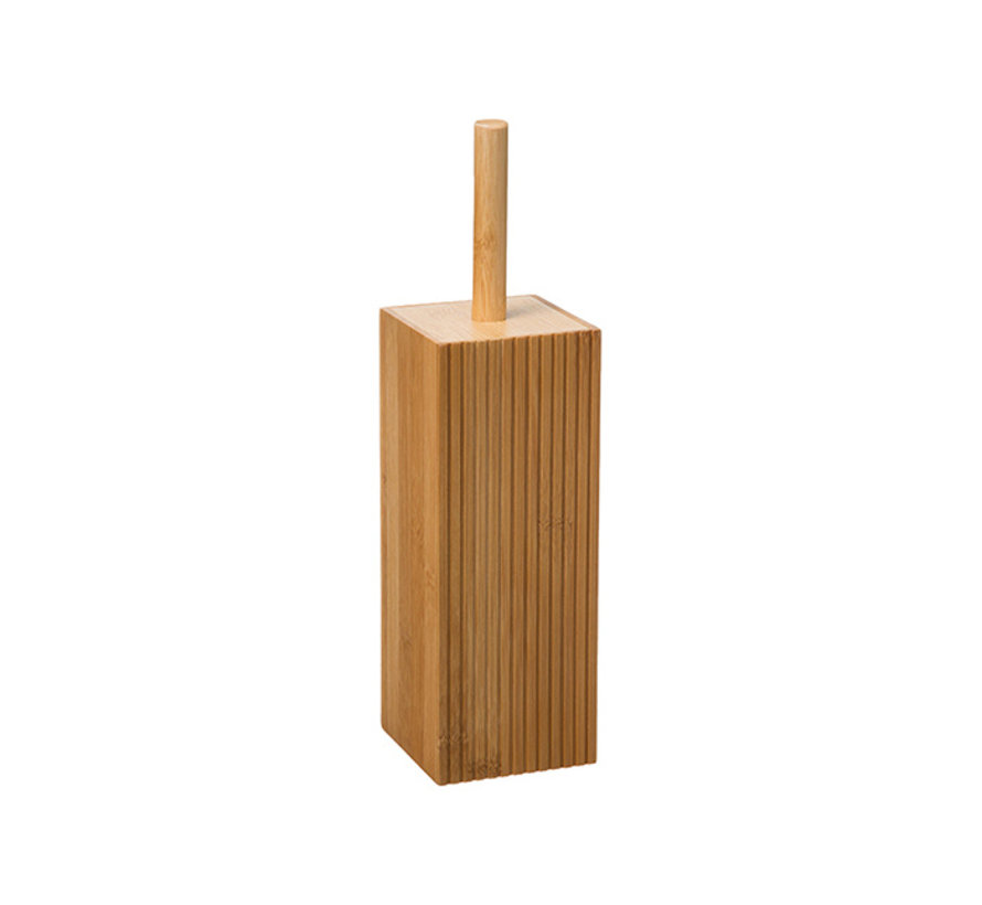 Bamboo Toilet Brush with Holder - Bamboo 100% WC Bamboo Toilet Brush Holder with Toilet Brush Holder