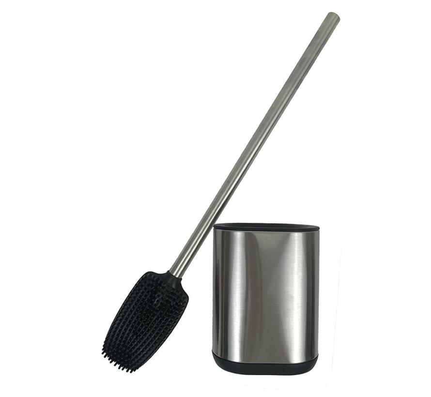Toilet brush stainless steel - Toilet brush stainless steel - stainless steel Toilet brush in holder - Toilet brush holder - Toilet brush - brush - Toilet brush with holder freestanding - brushed stainless steel
