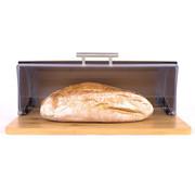 Merkloos Bamboe Broodtrommel Met Rolluik - Helpt Brood Vers Te Houden- - Brooddoos - Brood Bewaardoos - Vershouddoos - Broodkast - Broodbak - Broodmand - Bamboo Bread Bin - Hout - 39 CM