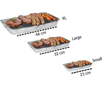Discountershop Set Barbecue - Instant - Wegwerp - Buiten barbecue - Tafel - Rooster - Balkon - Picknick - Barbecue accessoires - Grill - 3 Maten XL 1200 gram , L 600 gram , S 376 gram