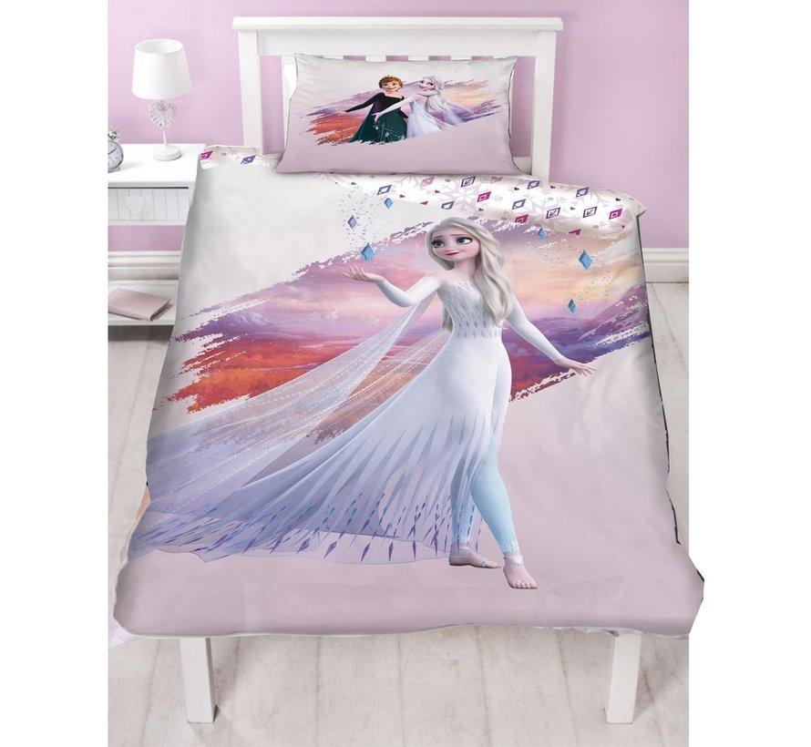 Frozen Disney Dekbedovertrek - Disney Frozen Dekbedovertrek Forest - Eenpersoons - 140 x 200 cm - Polyester