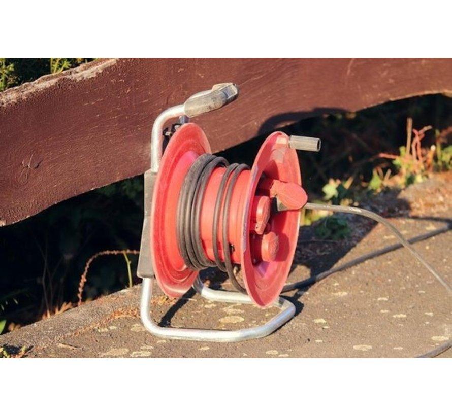 4 stuks - Kabelbox verlengsnoer kabelhaspel kabel verleng haspel met 4 geaarde stopcontacten 15 meter - Kabelhaspel - haspel - haspel 15 meter - kabelhaspel 250 volt | 3000 watt