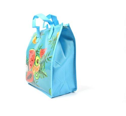 Discountershop Fresh & Cold koeltas - koel tas  strand  Koelbox   dames 8 liter polyetheen Blauw