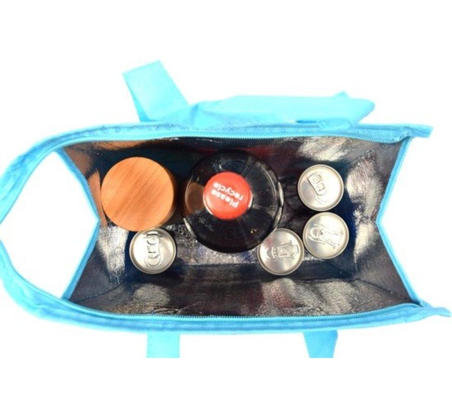 Fresh & Cold koeltas - koel tas  strand  Koelbox   dames 8 liter polyetheen Blauw