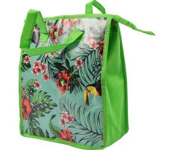 Discountershop Fresh & Cold koeltas-  Lunchtas - Koeltas - Lunchbox - Leuke Vrolijke Picknicktas - koel|tas| strand| Koelbox | dames 8 liter polyetheen Groen