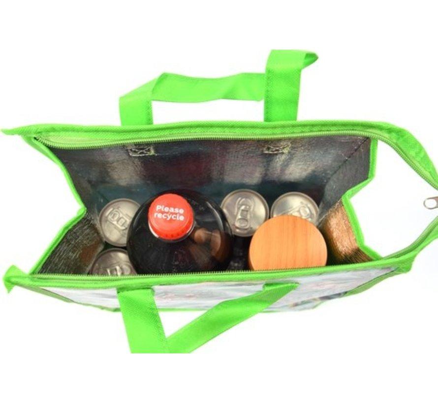 Fresh & Cold koeltas - koel tas  strand  Koelbox   dames 8 liter polyetheen Groen