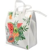 Discountershop Fresh & Cold cooler bag - Lunch bag - Cooler bag - Lunch box - Nice Happy Picnic bag cool bag  beach  Cool box   ladies 8 liter polyethylene   White