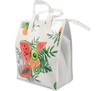 Discountershop Fresh & Cold koeltas - Lunchtas - Koeltas - Lunchbox - Leuke Vrolijke Picknicktas koel|tas| strand| Koelbox | dames 8 liter polyetheen | WIt