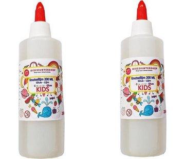 Discountershop Knutsellijm 400ml - Lijm - All purpose glue - Glue - Kinderlijm - Knutselen - Goedkope knutsellijm - Doorzichtige knutsellijm - Knutsellijm 400 ml - Lijm - All purpose glue - Glue - Kinderlijm - Knutselen - Goedkope knutsellijm -
