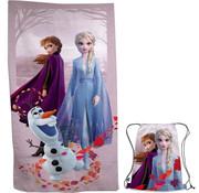 Disney Frozen Disney Frozen Strandlaken met tasje - afmeting 70 x 140 cm - tasje 43 x 32 cm - Polyester