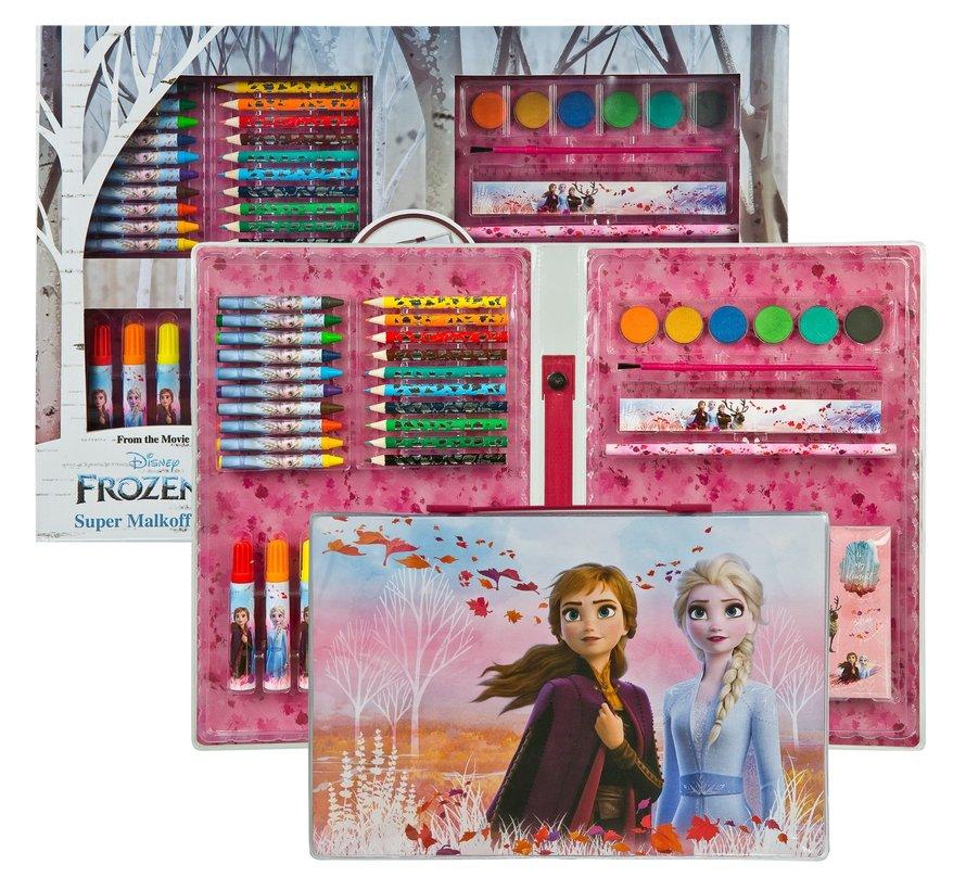 Frozen Disney kleurkoffer meer dan 100 delig - Frozen Elsa en Anna Kleurkoffer- Frozen - Frozen kleurpotloden