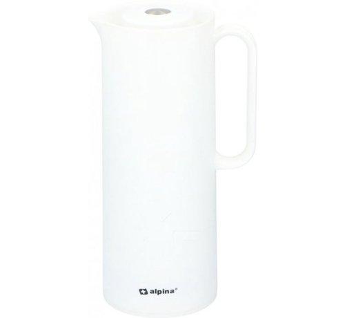 Alpina Alpina |Thermoskan | Isoleerkan 1 liter | polypropyleen | Wit | D12x30,4cm 630g