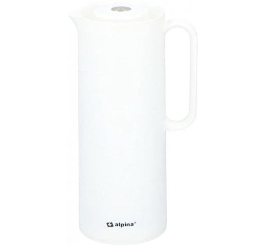 Alpina |Thermoskan | Isoleerkan 1 liter | polypropyleen | Wit | D12x30,4cm 630g