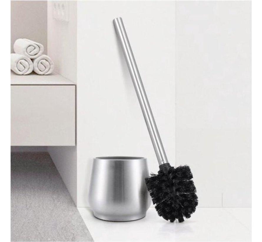 3 X Toilet Brush Stainless Steel - Toilet Brush Stainless Steel - Stainless Steel Toilet Brush in Holder - Toilet Brush Holder - Toilet Brush - Toilet Brush with Holder Freestanding - Brushed Stainless Steel