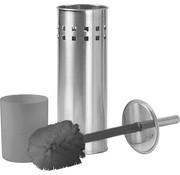 Discountershop Toilet Brush Holder of Stainless Steel Premium 1x Stainless Steel Toilet Brush with Holder Set