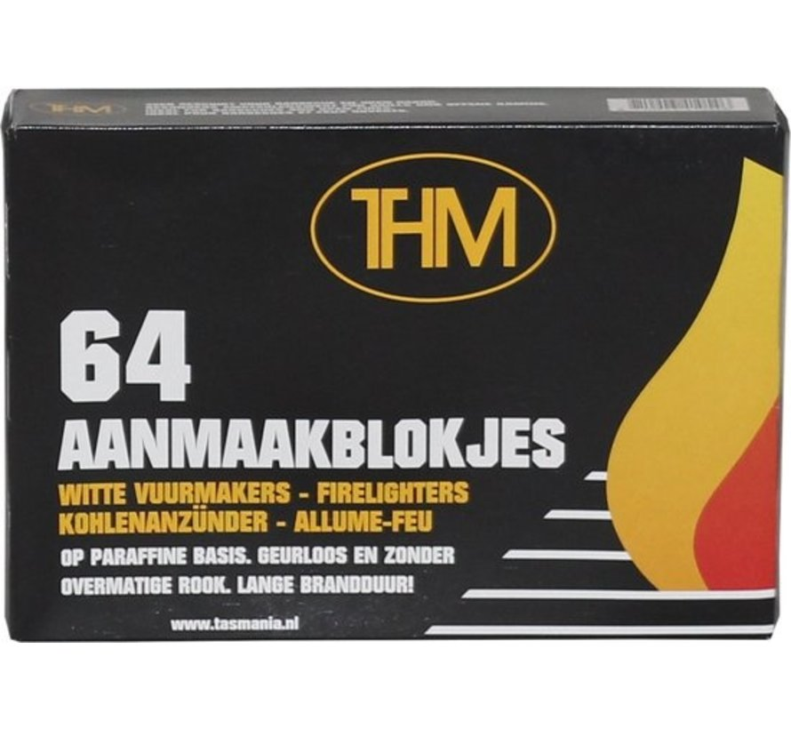 5 X Barbecue firelighters - BBQ firelighter - BBQ - Firelighters THM white paraffin - 320 pieces