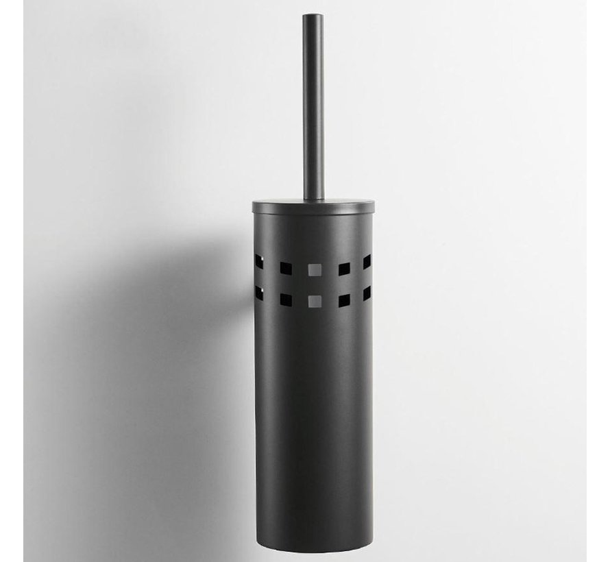 2 Stuks Toiletborstel RVS - Wcborstel RVS Toiletborstel in houder - Toiletborstelhouder - Toiletborstel zwart