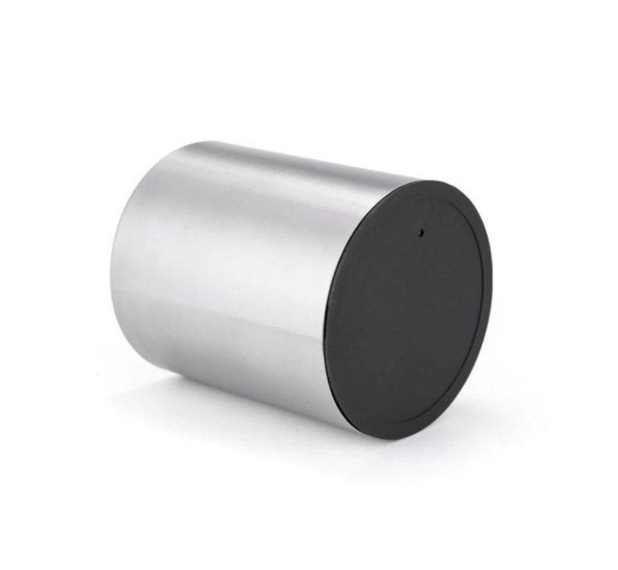 2 X Toilet Brush Stainless Steel - Toilet Brush Stainless Steel - Stainless Steel Toilet Brush in Holder - Toilet Brush Holder - Toilet Brush - Toilet Brush with Holder Freestanding - Brushed Stainless Steel
