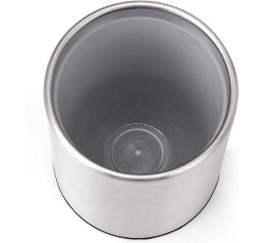 4 X Toilet Brush Stainless Steel - Toilet Brush Stainless Steel - Stainless Steel Toilet Brush in Holder - Toilet Brush Holder - Toilet Brush - 4 Pieces - Toilet Brush with Holder Freestanding - Brushed Stainless Steel
