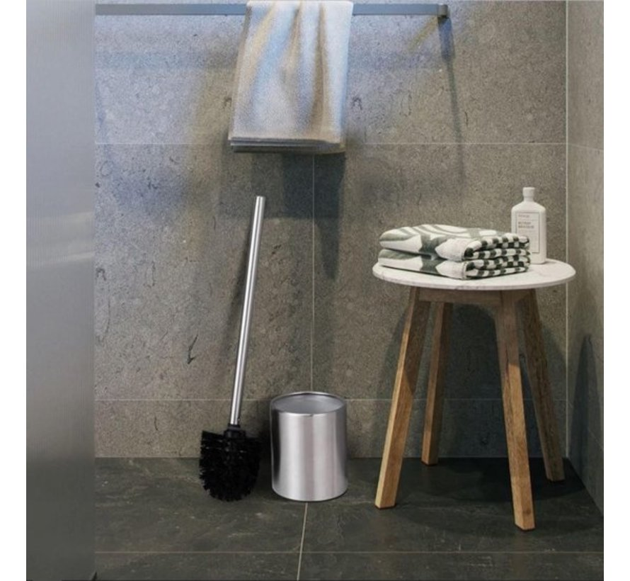 5 X Toiletborstel RVS - Wc-borstel Rvs - RVS Toiletborstel in houder - Toiletborstelhouder - Wcborstel - 5 Stuks - Toiletborstel met houder vrijstaand - RVS geborsteld