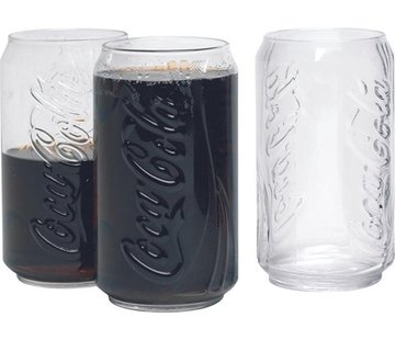 Discountershop Set of 3 Coca Cola Glasses 35cl | 3 Pieces | Glasses | Glass cup | Summer | Beach | Long drink glass