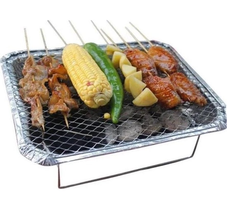 2 Pieces Barbecue - Instant - Disposable - Outdoor barbecue - Table - Grid - Balcony - Picnic - Barbecue accessories - Grill - Buy barbecue - Barbecue - Barbecue sauce -